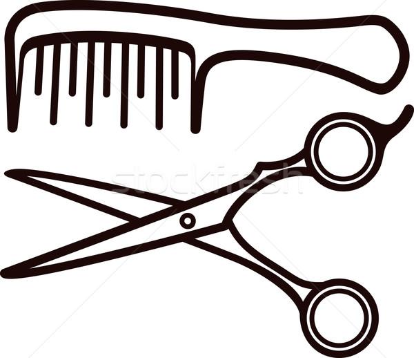 Scissors and comb Stock photo © maximmmmum