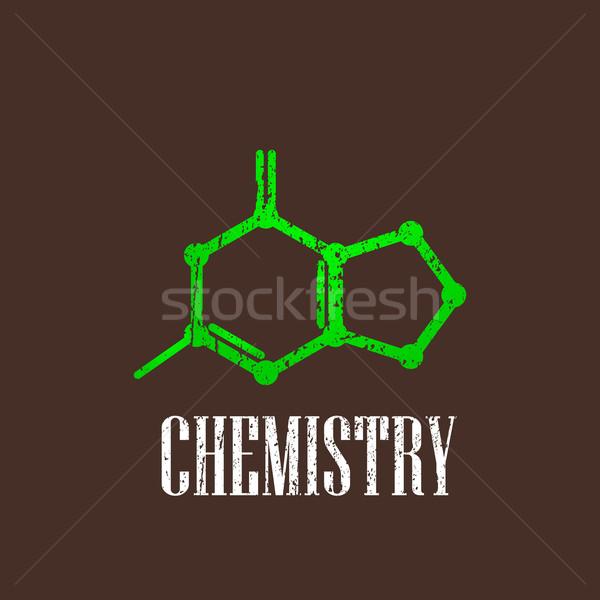 Vintage illustratie moleculair icon medische web Stockfoto © maximmmmum