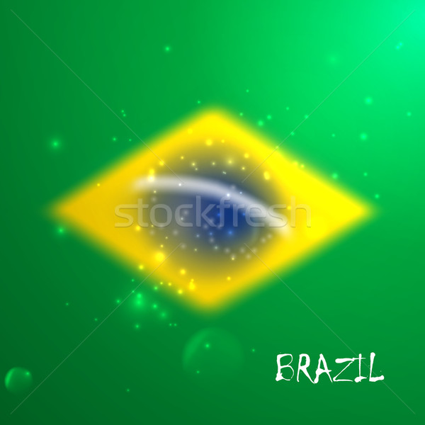 vector blurred background with sparkles in brazil flag concept for design and website background.  Stock photo © maximmmmum