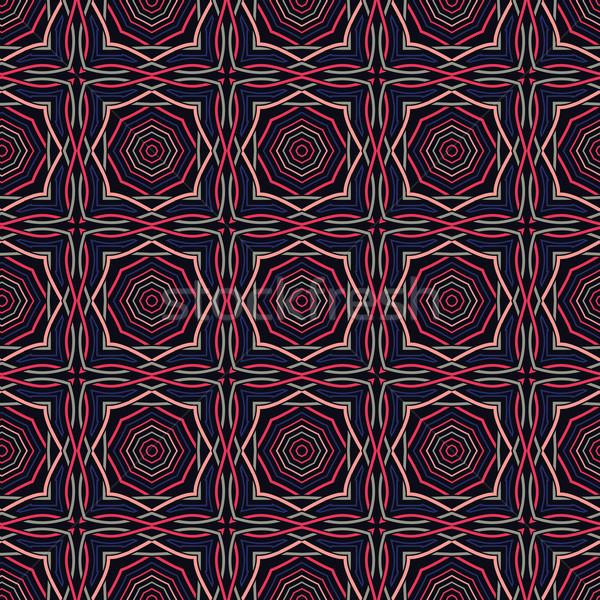 Etnik model bağbozumu vektör Stok fotoğraf © maximmmmum