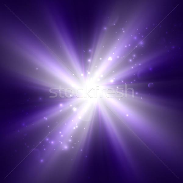 ярко Flash взрыв Purple небе Сток-фото © maximmmmum