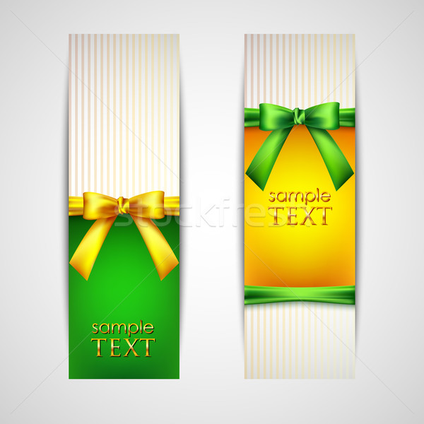multicolored banners with bows and ribbons  Stock photo © maximmmmum