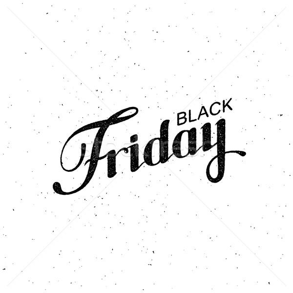 Black friday vásár címke vektor klasszikus illusztráció Stock fotó © maximmmmum