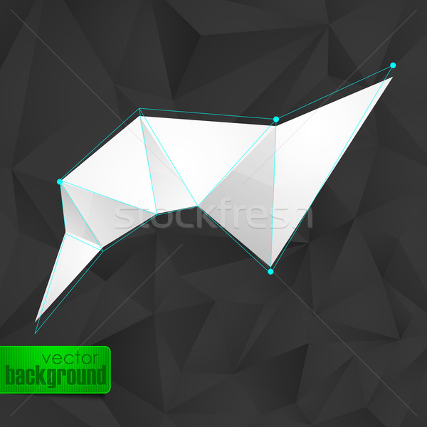 abstract background with black triangles and a white banner Stock photo © maximmmmum
