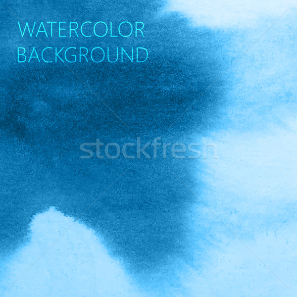 Stock photo: vector abstract blue watercolor background for your design