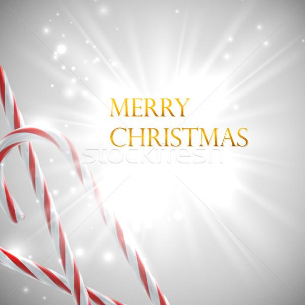 Weihnachten süß Süßigkeiten candy Vektor Urlaub Stock foto © maximmmmum