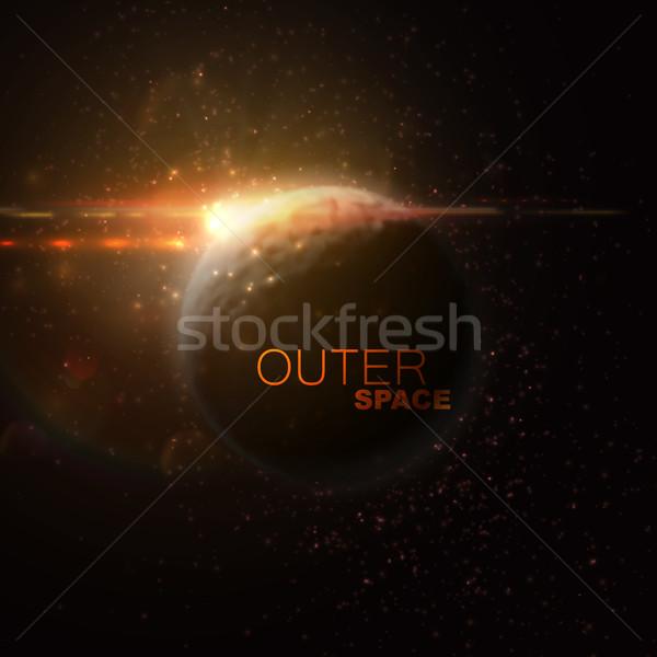 Spazio esterno abstract pianeta stelle ottico Foto d'archivio © maximmmmum