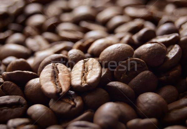 香ばしい ブラウン コーヒー豆 ビッグ ストックフォト © maxpro