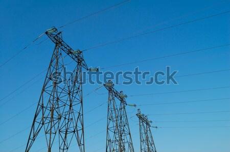 Elektromos nagyfeszültség erő posta technológia fém Stock fotó © maxpro