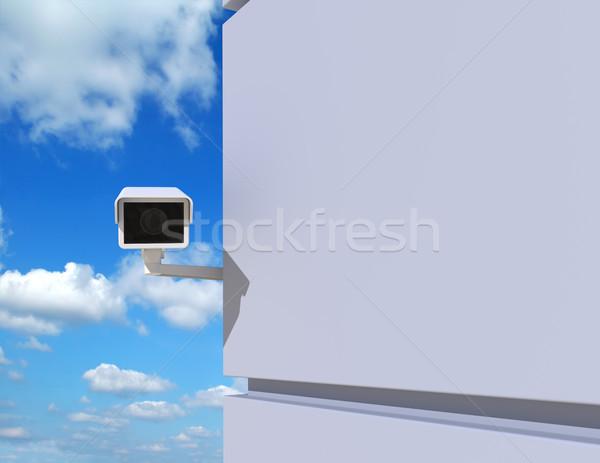 Сток-фото: камеры · безопасности · вокруг · углу · современное · здание · город · улице