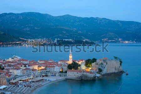 Mistery Evening in Old Town of Budva. Montenegro, Balkans, Europe. Stock photo © maxpro