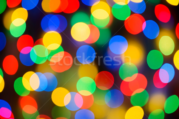 Abstract Christmas Background with Blurred Lights Stock photo © maxpro