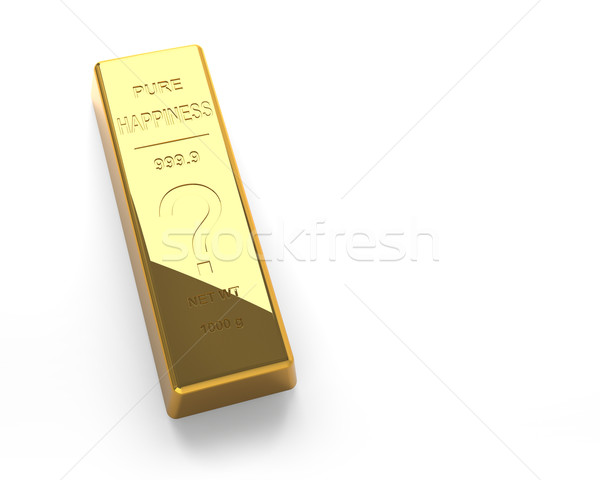 Gold bar Isolated on the White Background Stock photo © maxpro