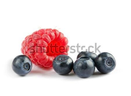 Big Pile of Fresh Berries on White Background Stock photo © maxpro