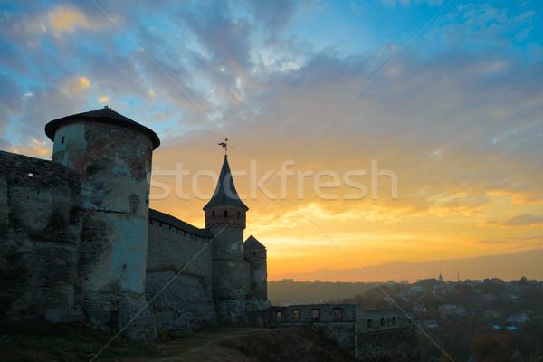 古い 古代 市 建物 山 ストックフォト © maxpro