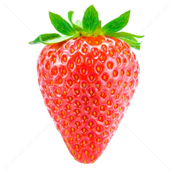Stock photo: Sweet Juicy Strawberry Isolated on the White Background