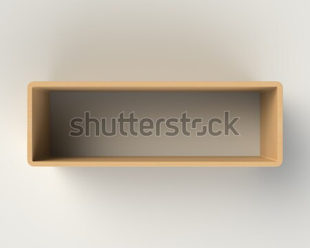 Modern Wooden Book Shelf on the Wall Stock photo © maxpro