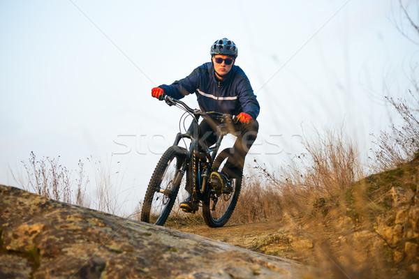 велосипедист верховая езда горных велосипедов тропе Экстрим пространстве Сток-фото © maxpro