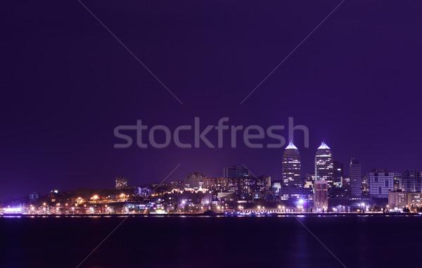 Noite linha do horizonte rio Ucrânia reflexão negócio Foto stock © maxpro