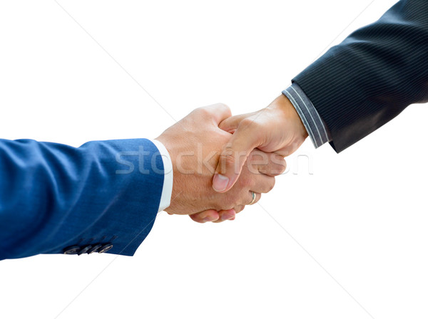 Stock photo: Business People Shaking Hands on the White Background Close-up