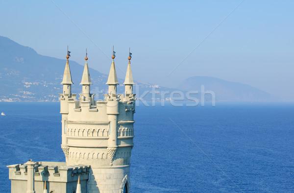 Schönen Nest Burg rock Ukraine berühmt Stock foto © maxpro