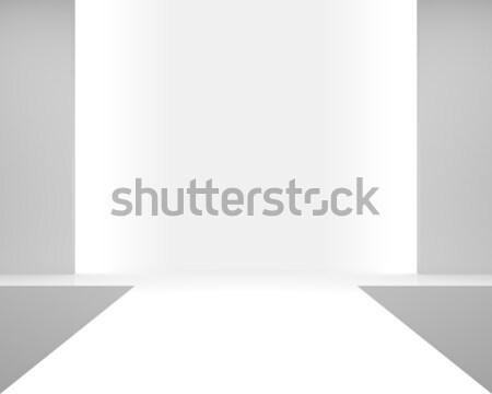Lege witte interieur podium mode show Stockfoto © maxpro