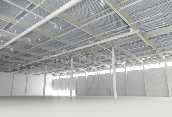 New Modern Empty Storehouse Stock photo © maxpro