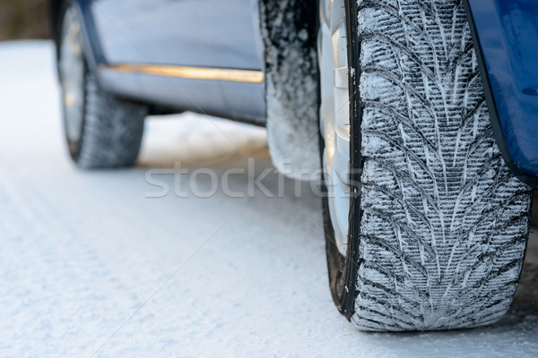 Afbeelding winter auto band weg Stockfoto © maxpro