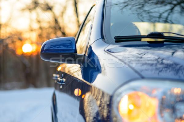 Foto d'archivio: Immagine · lato · specchio · auto · inverno