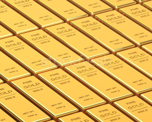 Groot ingesteld goud bars afbeelding Stockfoto © maxpro