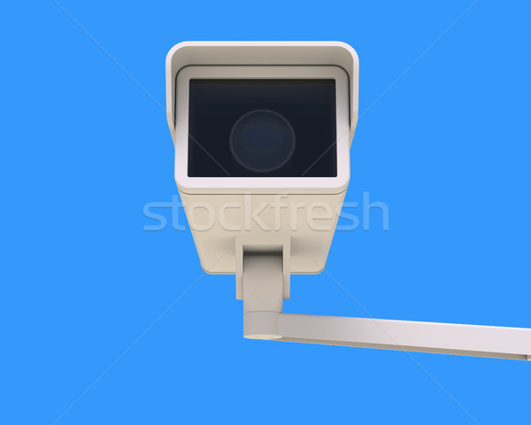 Modern Security Camera Mounted on the Building Stock photo © maxpro