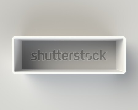 Modern White Book Shelf on the Wall Stock photo © maxpro