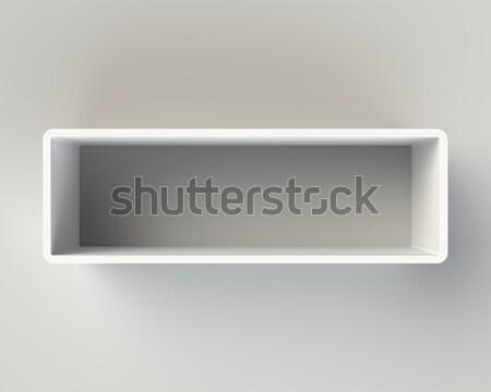 Modern fehér könyvespolc fal fény szürke Stock fotó © maxpro
