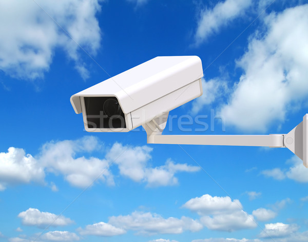 Security Camera Mounted on the Facade of the Building Stock photo © maxpro