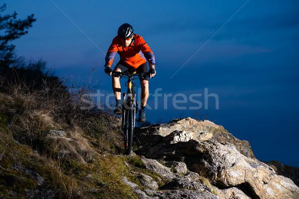 велосипедист верховая езда велосипедов рок ночь Экстрим Сток-фото © maxpro