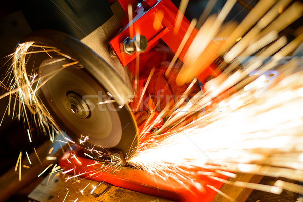 Elactric Grinder Cutting Metal with Bright Sparks Stock photo © maxpro