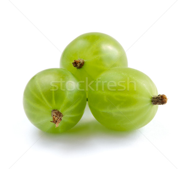 Ripe Gooseberries Isolated on White Background Stock photo © maxpro