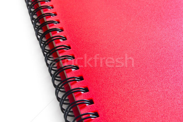Red Spiral Notebook Isolated on the White Background Stock photo © maxpro