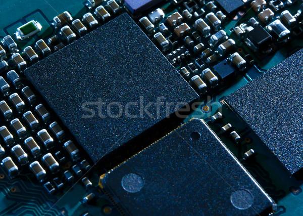 Stock fotó: Közelkép · kép · elektronikus · nyáklap · processzor · számítógép