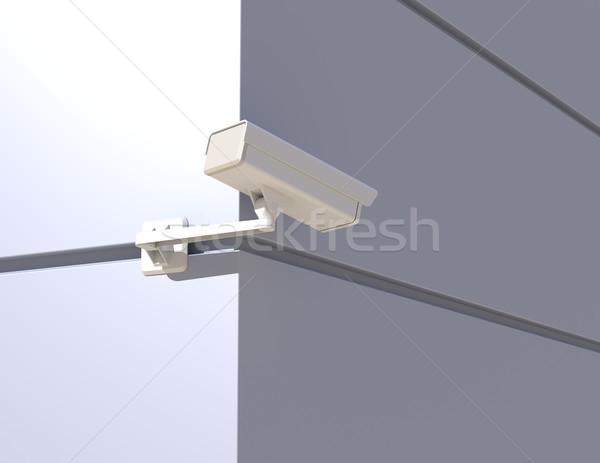 Security Camera Peeking Around the Corner Stock photo © maxpro