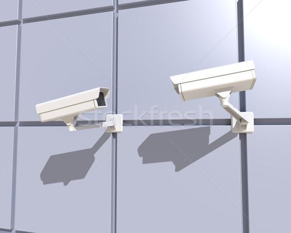 Сток-фото: камеры · безопасности · фасад · здании · современное · здание · город · улице