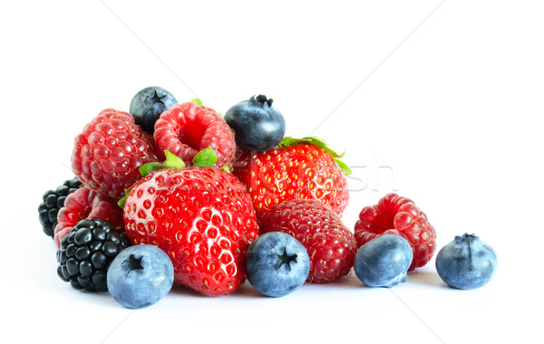 Big Pile of Fresh Berries on the White Stock photo © maxpro
