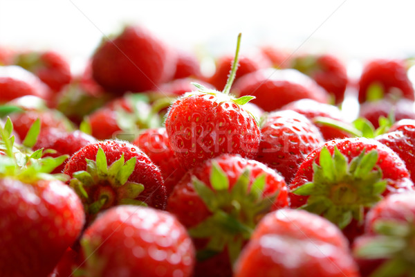 Stock photo: Close up of Fresh Sweet Strawberries
