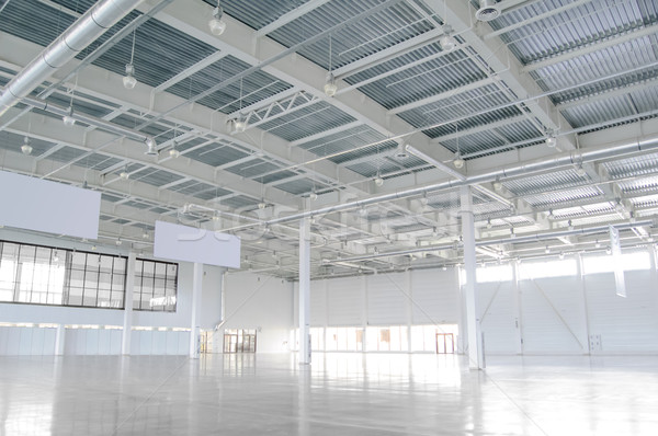 New Modern Empty Storehouse. Huge Light Empty Storehouse Stock photo © maxpro