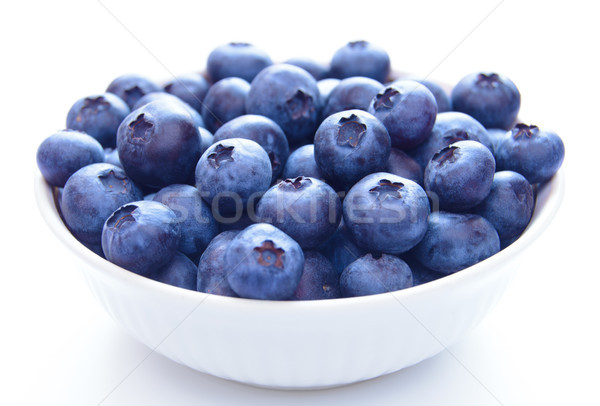 Big White Bowl Full of Ripe Blueberries Stock photo © maxpro