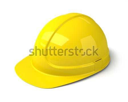 Yellow Safety Helmet on the White Background Stock photo © maxpro
