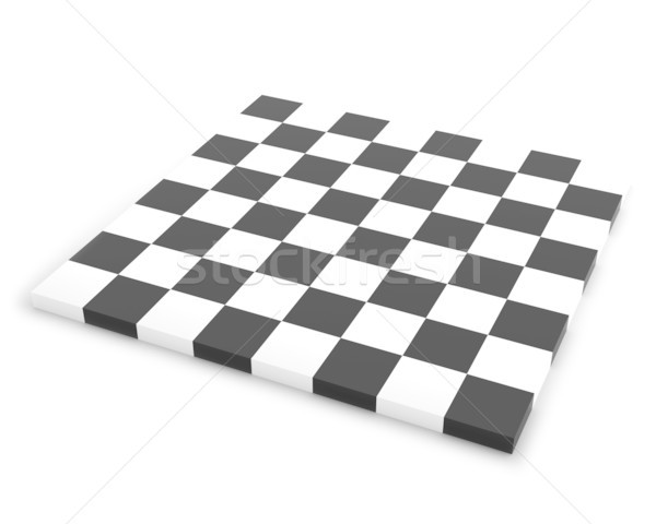 Empty Chessboard Isolated on the White Background Stock photo © maxpro