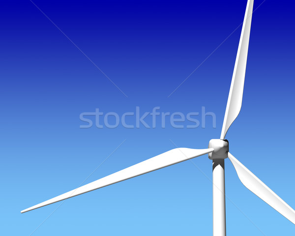 Vento generatore turbina cielo blu verde energie rinnovabili Foto d'archivio © maxpro