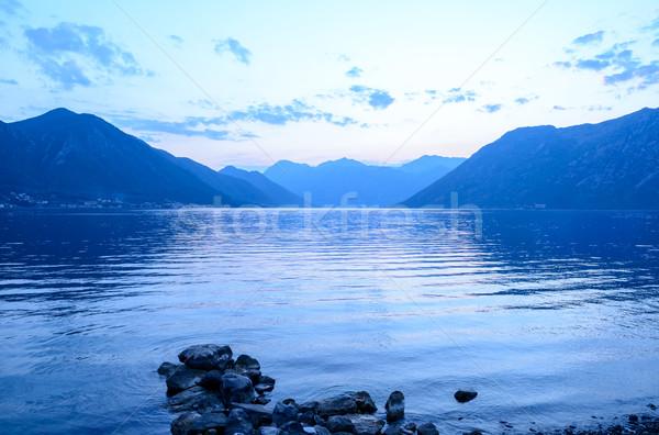 Bay of Kotor in Evening. Panorama of Boka-Kotorska bay, Montenegro. Stock photo © maxpro