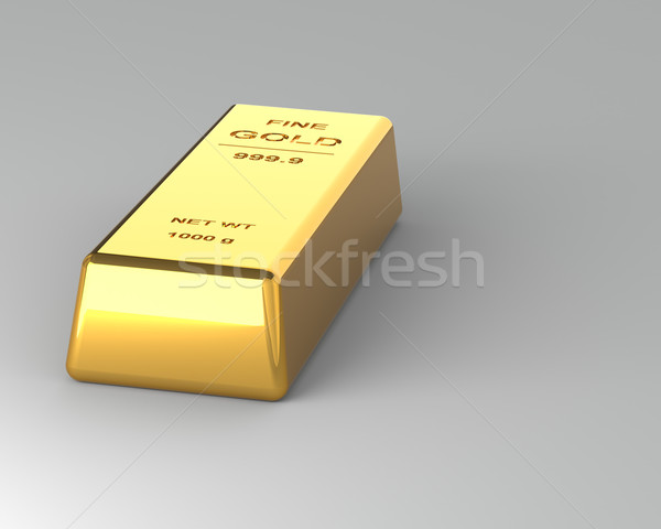 Gold bar on the Gray Background Stock photo © maxpro